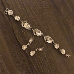 Swarovski Diamond Bracelet & Earrings